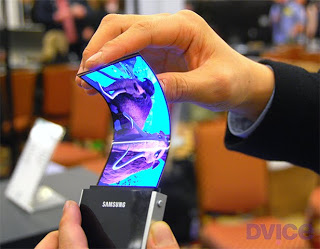 Samsung Layar Fleksibel aau dibengkokan
